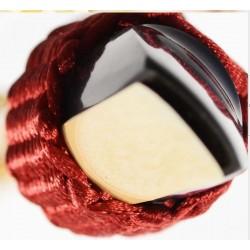 LIGATURE BAMBU POUR CLARINETTE SIB EN FIBRE SYNTHETIQUE couleur bordeaux