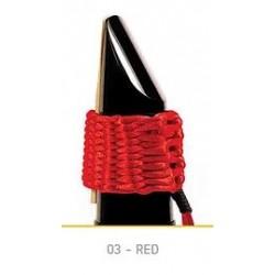 LIGATURE BAMBU POUR CLARINETTE SIB EN FIBRE SYNTHETIQUE couleur rouge