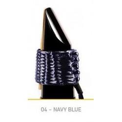 LIGATURE BAMBU AC04 POUR CLARINETTE SIB EN FIBRE SYNTHETIQUE couleur bleu marine