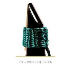 LIGATURE BAMBU AC09 POUR CLARINETTE SIB EN FIBRE SYNTHETIQUE couleur vert nuit