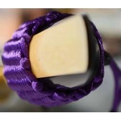 LIGATURE BAMBU AC11 POUR CLARINETTE SIB EN FIBRE SYNTHETIQUE couleur violet