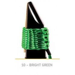 LIGATURE BAMBU AA10 POUR SAXOPHONE ALTO EN FIBRE SYNTHETIQUE couleur vert brillant